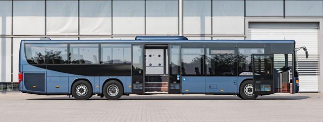 Setra S 418 LE business har upp till 57 sittplatser. Foto: Daimler Buses.