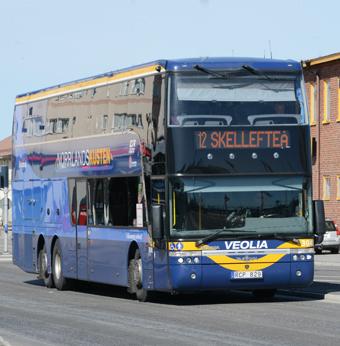 Kollektivtrafikens dag äger rum i Skellefteå på onsdagen. Foto: Ulo Maasing.