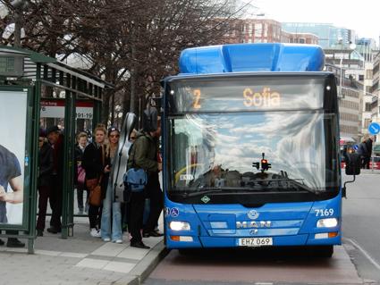 Framför allt stominjebussarna i Stockholm ska få bättre framkomlighet. Foto: Ulo Maasing.
