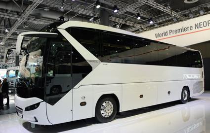 Neoplans nya Tourliner bygger på MAN Lion´s Coach. Foto: Ulo Maasing.