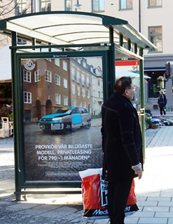 Vänsterpartiet i Stockholms läns landsting vill få bort reklamen i kollektivtrafiken. Foto: Ulo Maasing.