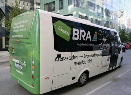 Linjen körs med två Iveco/Rosero eldrivna  midibussar med plats för 20 sittande och 11 stående passagerare. Foto: Ulo Maasing.