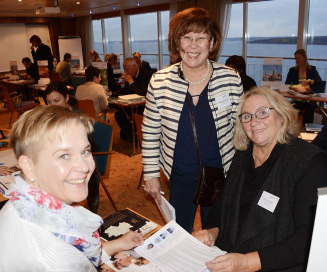 Susanne Dimbacher från Victor´s Residenz-Hotels tillsammans med M<rgareta Unger och Ulla Lundwall från Cities+Tours.