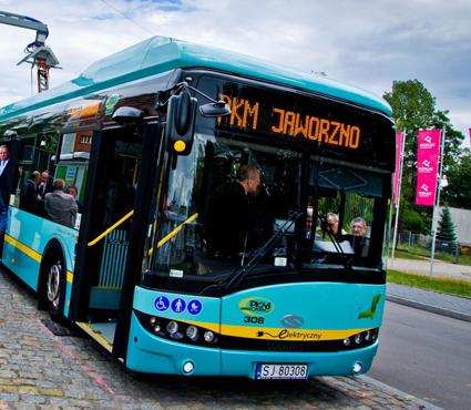 Jaworzo är en av de polska städer som har beställt elbussar från Solaris. Foto: Solaris.