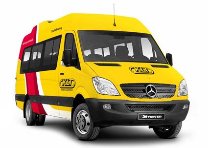 Även de små bussarna får den nya designen. Bild: KLT.