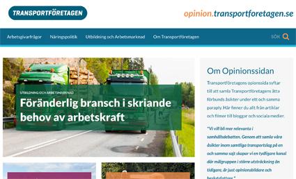 Transportföretagen lanserade på måndagen en opinionssajt där de åtta ingående förbundens ståndpunkter presenteras.
