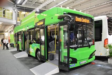 Premiär på Persontrafik var det för elbusstillverkaren Hybricon som snart visar sina första fyrhjulsdrivna elbussar. Foto: Ulo Maasing.