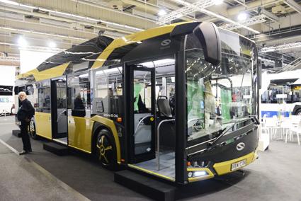 Den andra Sverigenyheten från Solaris var gasbussen nya Urbino 12 CNG. Foto: Ulo Maasing.