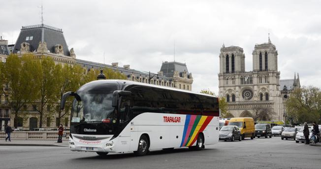 Franska bussföretag överväger en veckas bojkott av Paris som en protest mot att staden vill införa förbud mot dieselfordon i centrum från 2020. Foto: Ulo Maasing.