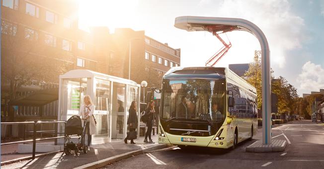 Volvo Bussar lanserar på Persontrafik 2016 sin Elbuss Volvo 7900 Electric i kommersiellt utförande. Bild: Volvo.