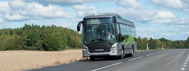 Scania bussar har hittills haft ett framgångsrikt år. Foto: Peggy Bergman.