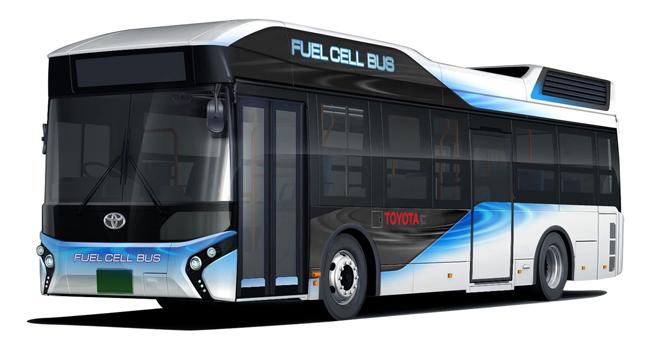 Toyota börjar på nyåret att sälja bränslecellsdrivna stadsbussar. Bild: Toyota.