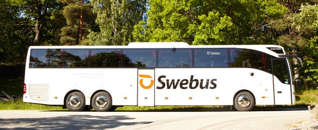 Snart slutkört mellan Uppsala och Stockholm. Foto: Swebus.