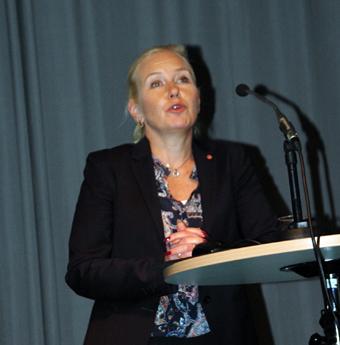 Svarade och talade om regeringens framtidsvisioner gjorde Anna Johansson(S). Foto: Paula Isaksson.