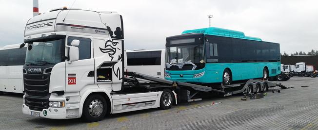 På väg till Glöteborg för Europapremiär: Yutongs batteridrivna stadsbuss E12. Foto: Yutong Eurobus.