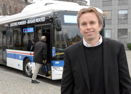 Pet4r Liss, vd för AB Västerås Lokaltrafik: Vi har en stor tro på elbussar för innerstadstrafik. Foto: Ulo Maasing.