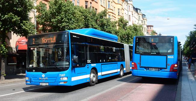 Stockholms län är ett av tre i landet där mer än 96 procent av den upphandlade busstrafiken körs fossilfritt. Foto: Ulo Maasing.