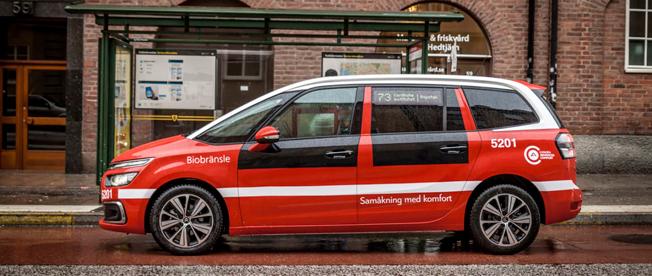 Till SL-buss förklädd Citroën. Foto: Citroën.