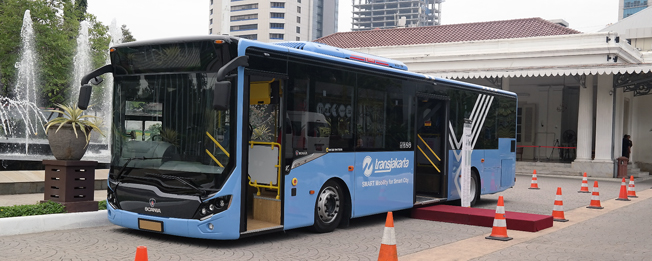 Scania har fått en order på 150 lågentrébussar till Transjakarta i Jakarta, Indonesien. Foto: Scania.