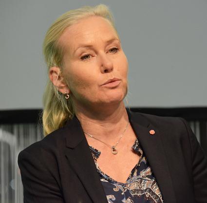 """Infrastrukturminister Anna Johansson(S): """"Vi funderar"""". Foto: Ulo Maasing."""