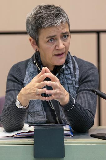 EU:s konkurrenskommissionär Margrethe Vestager. Foto: EU-kommissionen.