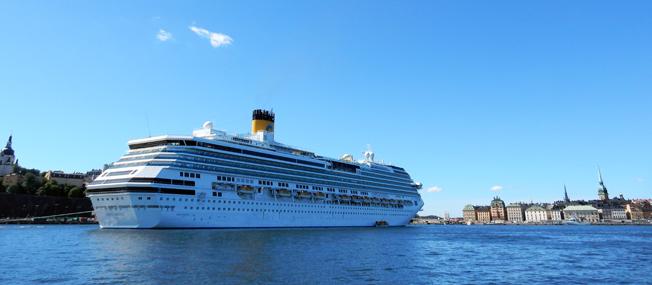 Kryssningsfartyg på Stockholms ström. Foto: Ulo Maasing.