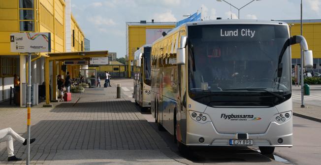 Flygbussarna måste dra in en rad hållplatser iu Lund som en följd av spårvägsbygget i staden. Foto: Ulo Maasin g.