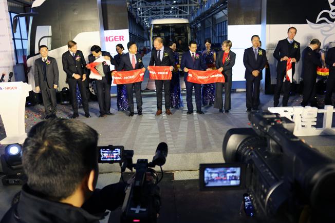 Scania och Higer har invigt en ny produktionsanläggning för bussar i den kinesiska staden Suzhou. Foto: Scania.