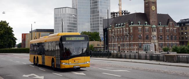 Den nya kollektivtrafiktaxan i Skåne är unik och utgår från varje enskild resenärs position. Foto: Ulo Maasing.