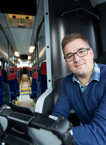 Andreas Olofsson, vd, SkellefteåBuss. Foto: Skellefteå Buss.