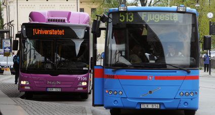 Region Örebro län siktar på att år 2025 ha Sveriges nöjdaste resenärer i kollektivtrafiken. Foto: Ulo Maasing.