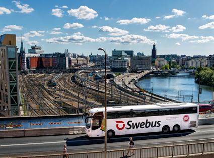 Swebus börjar sälja SL-biljetter till Stockholmsresenärer. Foto: Swebus.