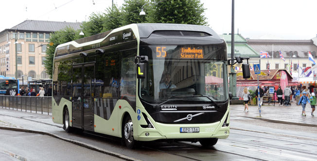 Elbusslinje 55 i Göteborg inspirerar Uddevalla. Foto: Ulo Maasing.