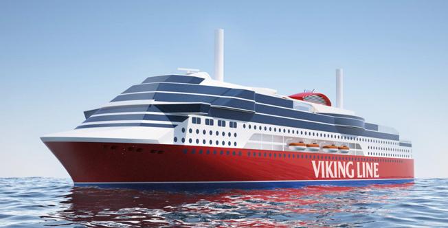 Viking Line bygger nytt i Kina för rutten Stockholm – Mariehamnm – Åbo. Bild: Viking Line.