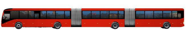 Volvos nya för 300 passagerare. Bild: Volvo Bussar.