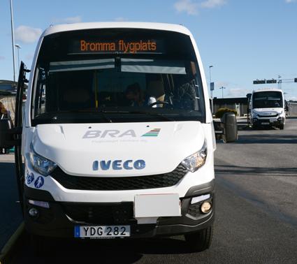 Det blir elbussar av samma modell som kör flygbusslinjen Bromma – Arenastaden som ska sättas i trafik i Enköping och Håbo. Foto: Ulo MAasing.
