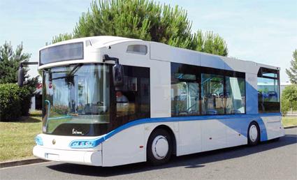 Bland Visdos kunder finns franska elfordonstillverkaren Safra som bland annat tillverkar den annorlunda hybrid- och elbussen Businova. Bild: Safra.