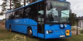 Bussen som skulle ge Djurön ett lyft. Foto: Björn Hammarskjöld.