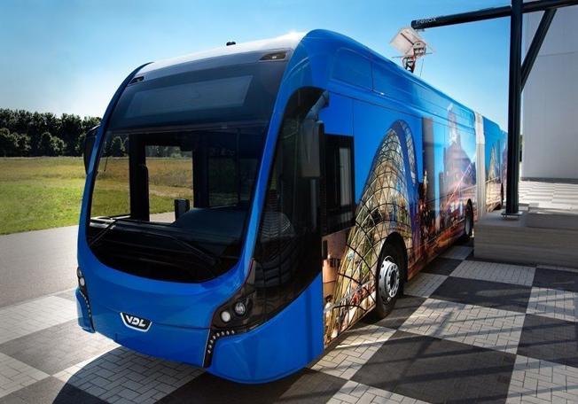 Eindhoven får Europas största flotta av batteridrivna ledbussar. Foto: VDL.
