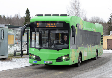 De fem senaste tolvmetersbussarna från Hybricon till Umeå är byggda i samarbete med företagets partner Ekova. Foto: Ulo Maasing.