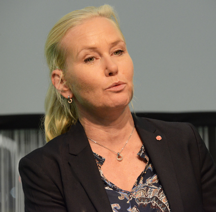 Infrastrukturminister Anna Johansson(S). Foto: Ulo Maasing.