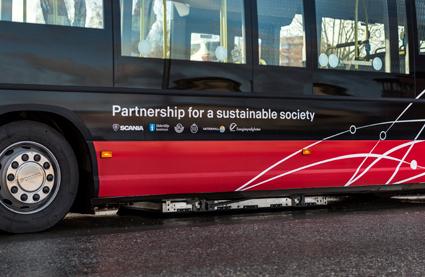 Den teknik man använder är Bombardiers Primove. Foto: Scania.