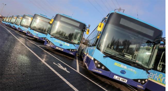 Den brittiska staden Nottingham har utökat sin elbussflotta å 45 bussar med ytterligare tretton från BYD. Foto: BYD.