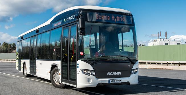 Keolis köper nya hybridbnussar till Dalarna från Scania. Foto: Scania.