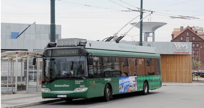 Landskrona har tilldelats 27 miljoner kronor för bland annat laddinfrastruktur och förbättrad angöring för bussar vid Landskrona station. Foto: Ulo Maasing.