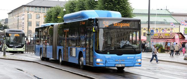 Resandet med busstrafiken i Västra Götaland har under året ökat med cirka tio procent. Foto: Ulo Maasing.