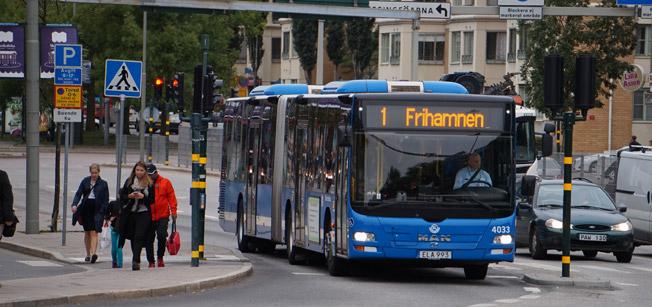 Keolis har säkerhetscertifierat sin busstrafik i Stockholm och på Lidingö. Foto: Keolis.