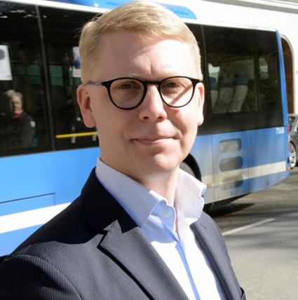 Kristoffer Tamsons(M), trafiklandstingsråd i Stockholms läns landsting.