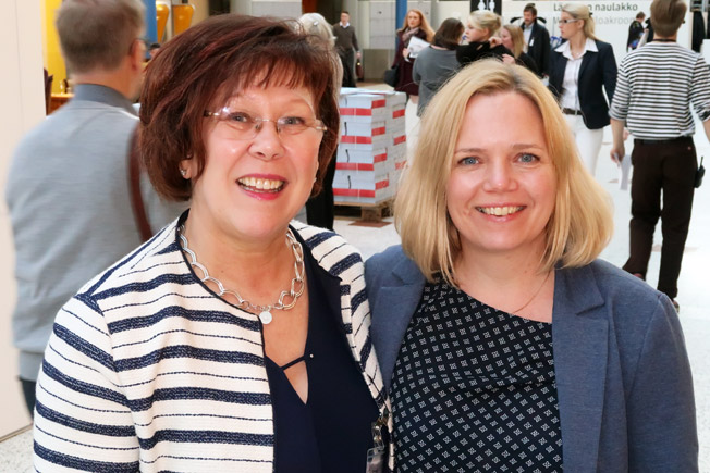 Margareta Unger och Gerlinde Anderberg var på plats för Cities+Tours. Foto: Ulo Maasing.