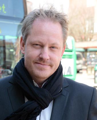 """Nobinas marknadsdirektör Henrik Dagnäs: """"Ett sätt för oss att bidra till att utveckla kollektivtrafiken"""". Foto: Ulo Maasing."""